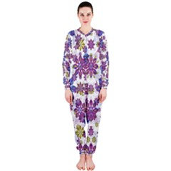 Stylized Floral Ornate OnePiece Jumpsuit (Ladies)
