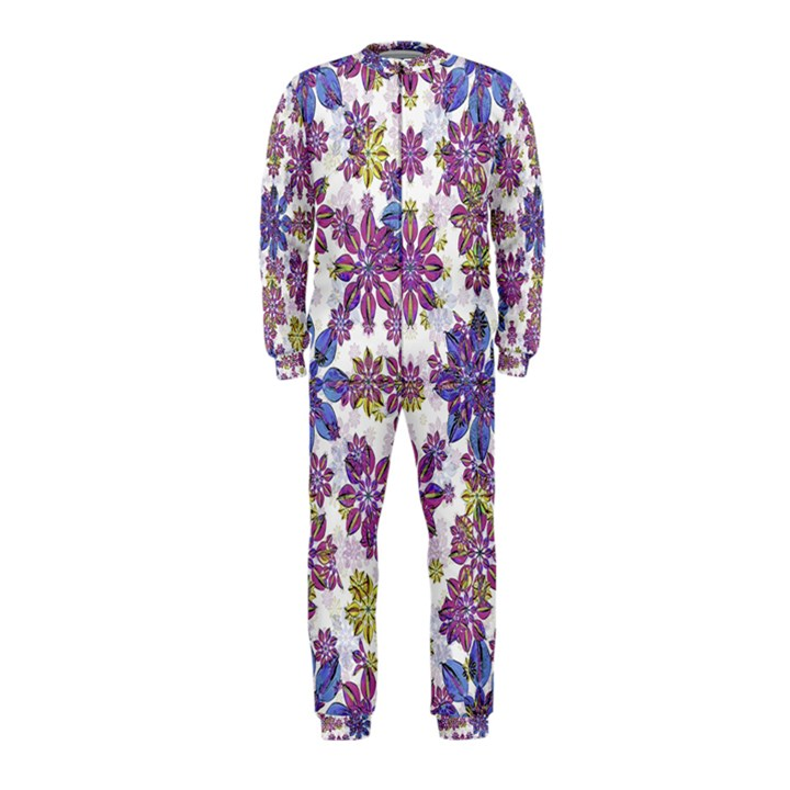 Stylized Floral Ornate OnePiece Jumpsuit (Kids)