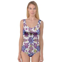 Stylized Floral Ornate Princess Tank Leotard