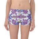 Stylized Floral Ornate Boyleg Bikini Bottoms View1