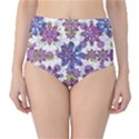 Stylized Floral Ornate High-Waist Bikini Bottoms View1