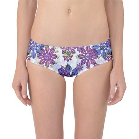 Stylized Floral Ornate Classic Bikini Bottoms