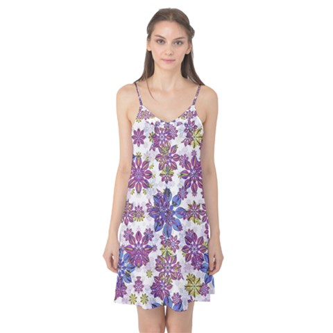 Stylized Floral Ornate Camis Nightgown