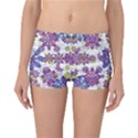 Stylized Floral Ornate Reversible Boyleg Bikini Bottoms View1