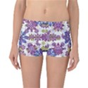 Stylized Floral Ornate Reversible Boyleg Bikini Bottoms View3