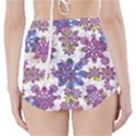 Stylized Floral Ornate High-Waisted Bikini Bottoms View2