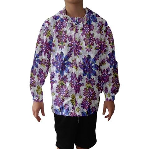 Stylized Floral Ornate Hooded Wind Breaker (Kids)