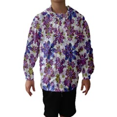 Stylized Floral Ornate Hooded Wind Breaker (Kids)
