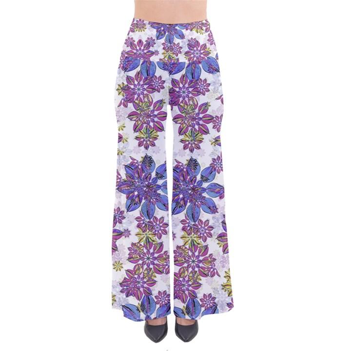 Stylized Floral Ornate Pants