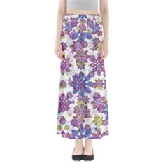 Stylized Floral Ornate Maxi Skirts
