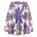 Stylized Floral Ornate High Waist Skirt View2