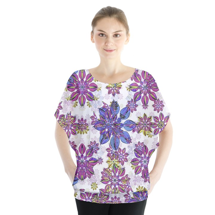 Stylized Floral Ornate Blouse