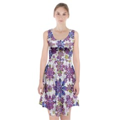 Stylized Floral Ornate Racerback Midi Dress