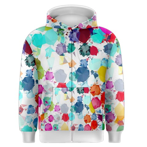 Colorful Diamonds Dream Men s Zipper Hoodie