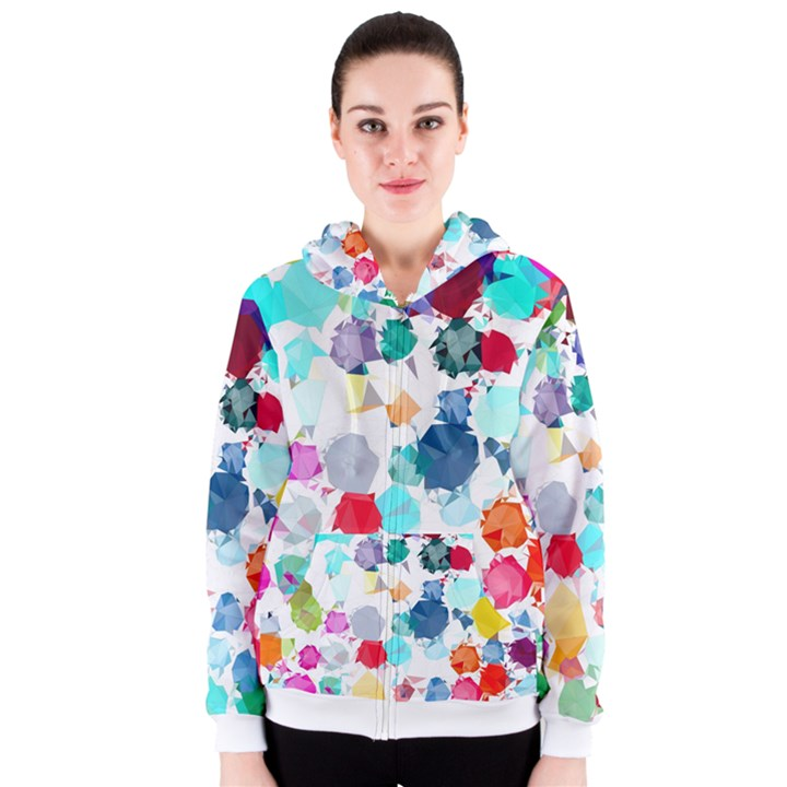 Colorful Diamonds Dream Women s Zipper Hoodie