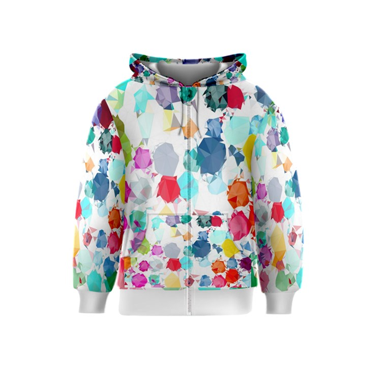 Colorful Diamonds Dream Kids  Zipper Hoodie