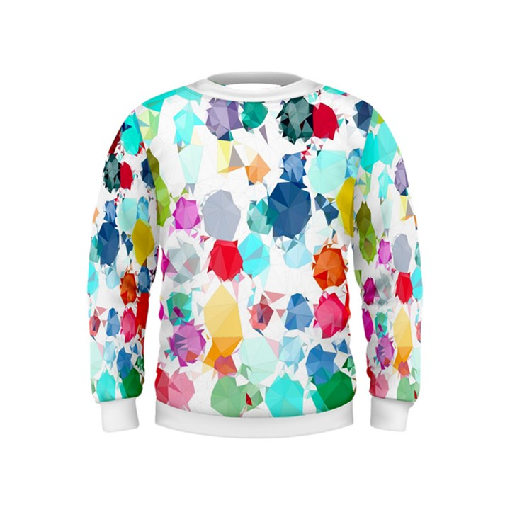 Colorful Diamonds Dream Kids  Sweatshirt