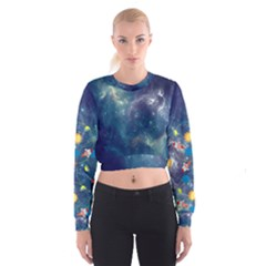 Space Women s Cropped Sweatshirt
