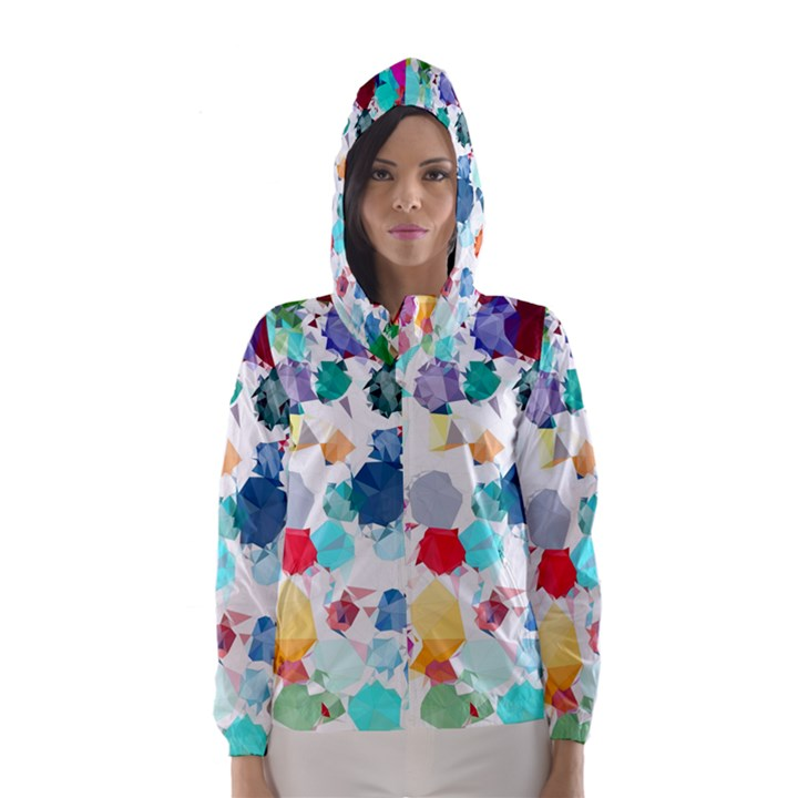 Colorful Diamonds Dream Hooded Wind Breaker (Women)