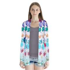 Colorful Diamonds Dream Drape Collar Cardigan