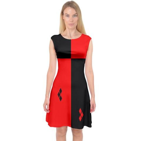 hharley quinn Capsleeve Midi Dress