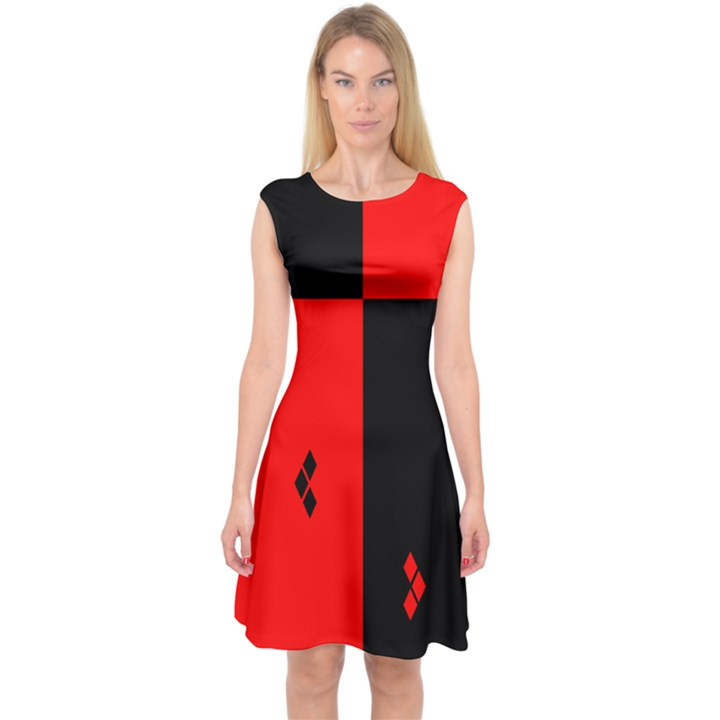 hharley quinn Capsleeve Midi Dress