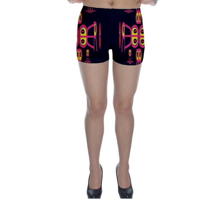 Alphabet Shirt R N R Skinny Shorts
