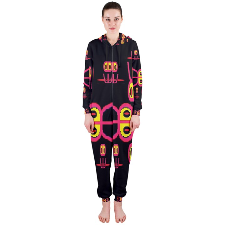 Alphabet Shirt R N R Hooded Jumpsuit (Ladies)