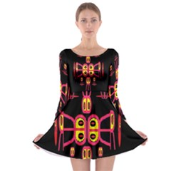 Alphabet Shirt R N R Long Sleeve Skater Dress