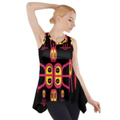 Alphabet Shirt R N R Side Drop Tank Tunic