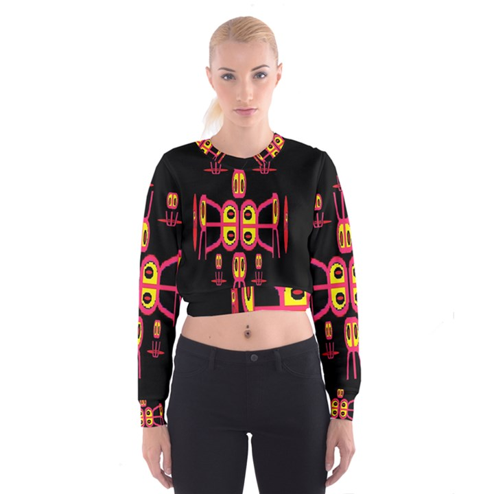 Alphabet Shirt R N R Women s Cropped Sweatshirt