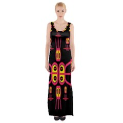 Alphabet Shirt R N R Maxi Thigh Split Dress