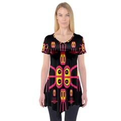 Alphabet Shirt R N R Short Sleeve Tunic
