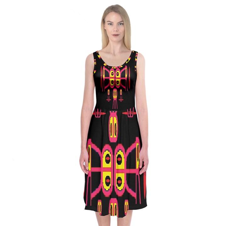 Alphabet Shirt R N R Midi Sleeveless Dress