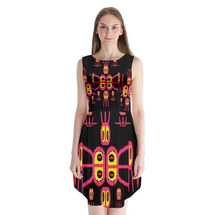 Alphabet Shirt R N R Sleeveless Chiffon Dress