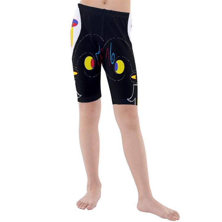 FLOWER OF LIFE TWO Kids  Mid Length Swim Shorts