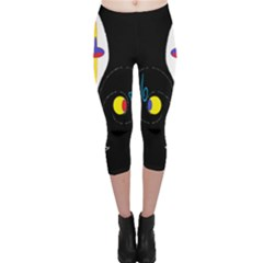 FLOWER OF LIFE TWO Capri Leggings