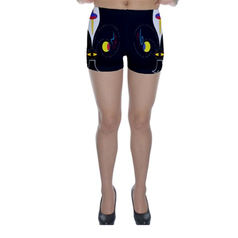 FLOWER OF LIFE TWO Skinny Shorts