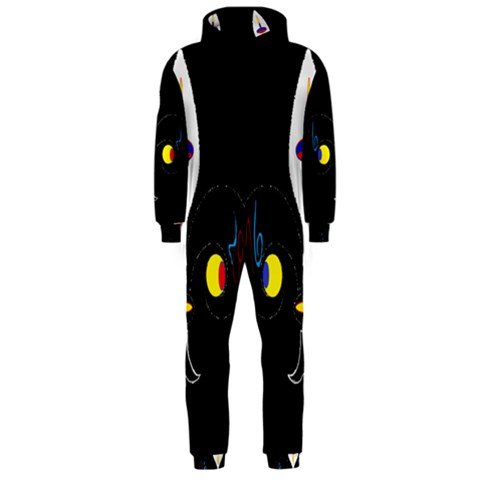 FLOWER OF LIFE TWO Hooded Jumpsuit (Men)