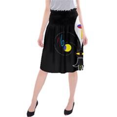 FLOWER OF LIFE TWO Midi Beach Skirt