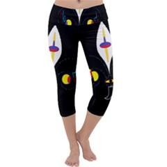 FLOWER OF LIFE TWO Capri Yoga Leggings