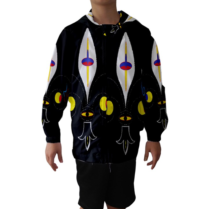 FLOWER OF LIFE TWO Hooded Wind Breaker (Kids)