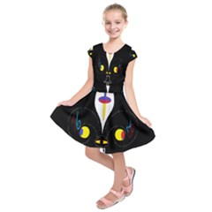 FLOWER OF LIFE TWO Kids  Short Sleeve Dress