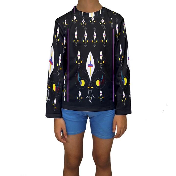 Clothing (25)gee8dvdynk,k;; Kids  Long Sleeve Swimwear