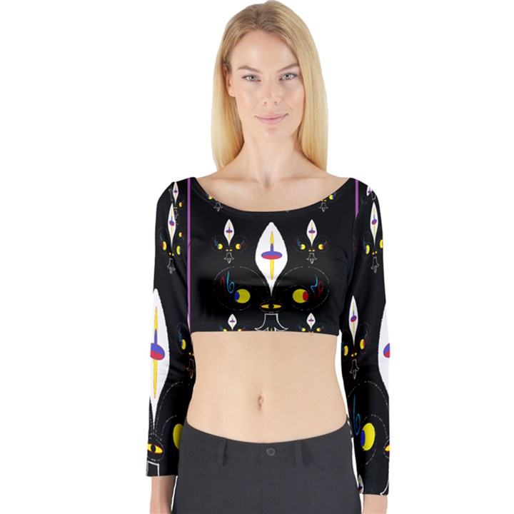 Clothing (25)gee8dvdynk,k;; Long Sleeve Crop Top
