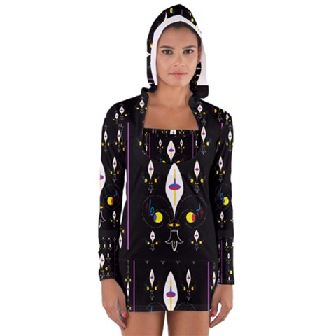 Clothing (25)gee8dvdynk,k;; Women s Long Sleeve Hooded T-shirt