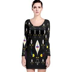 Clothing (25)gee8dvdynk,k;; Long Sleeve Velvet Bodycon Dress