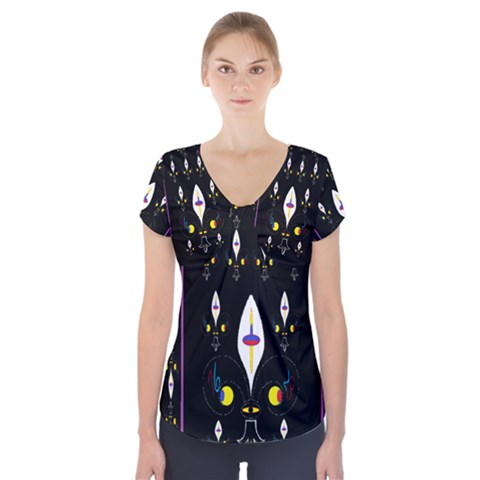 Clothing (25)gee8dvdynk,k;; Short Sleeve Front Detail Top