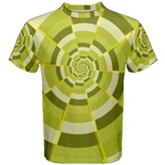 Crazy Dart Green Gold Spiral Men s Cotton Tee