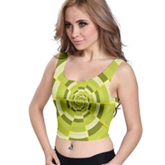 Crazy Dart Green Gold Spiral Crop Top